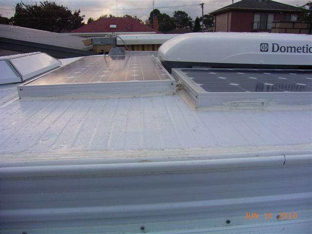 Motorhome and caravan info australia blog archive installing solar on roof asfbconference2016 Choice Image